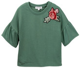 Ten Sixty Sherman Floral Patch Bell Sleeve Tee (Big Girls)