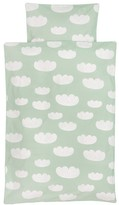 ferm LIVING Clouds bed linen set - mint green - 100x140 cm