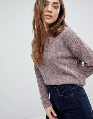 JDY Shine Chenille Supersoft Sweater-Pink
