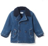 La Redoute Collections Denim Pea Coat 1 Month-3 Years