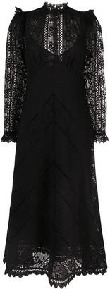 Zimmermann Brighton panelled mid-length dress