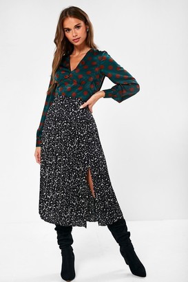 Iclothing iClothing Rhiannon Polka Dot Blouse in Emerald