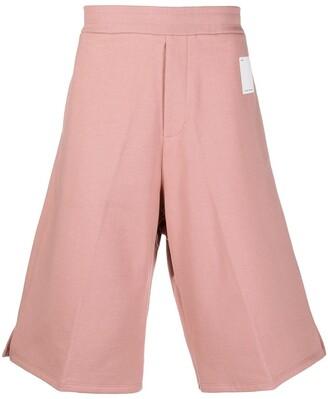 Oamc Knee-Length Cotton Track Shorts