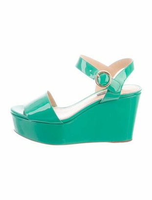 Dolce & Gabbana Patent Leather Sandals Green
