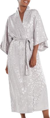 Natori Decadence Printed Satin Robe
