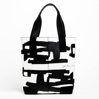 Black Line Crazy HARD TO BELIEVE Tote