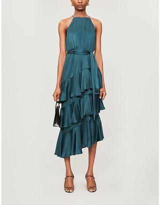 Zimmermann Tie-belt silk midi dress
