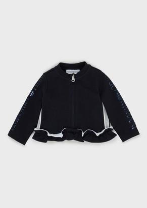 Emporio Armani Ruched, Zipped Sweatshirt