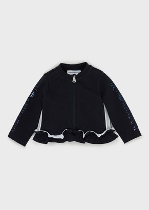 Emporio Armani Ruched, Zipped Sweatshirt