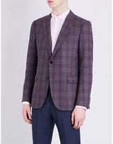 Armani Collezioni Checked Modern-fit Wool Jacket