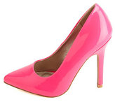 Neon Patent Pointed Toe Pumps