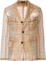 Fendi sheer panels check jacket