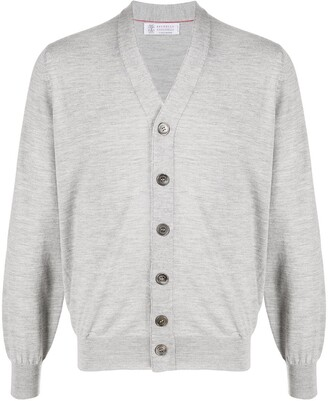 Brunello Cucinelli V-neck fine knit cardigan