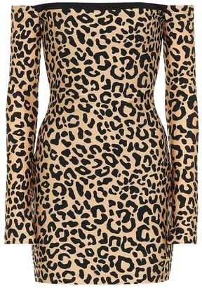 Halpern Leopard-print minidress