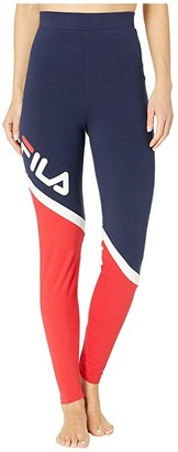 Fila Roxy Cut Sew Leggings (Peacoat/Chinese Red/White) Women's Casual Pants