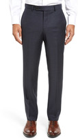 Ted Baker Jefferson Flat Front Check Wool Trousers