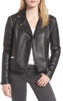 Members Only Women's Faux Leather Biker Jacket