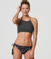LOFT Beach Petal Reversible Halter Bikini Top