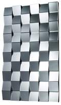 Lazy Susan Rectangle Decorative Wall Mirror Silver