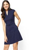 New York & Co. Split-Neck Fit & Flare Dress