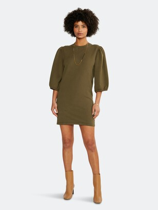 ÉTICA Isabelle Puff Sleeve Dress - Sea Turtle