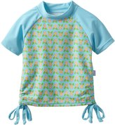 I Play I-Play Baby Girls' Short Sleeve Tie Rashguard Shirt