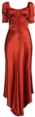 Alexis Noerene Ruched Stretch-Silk Dress