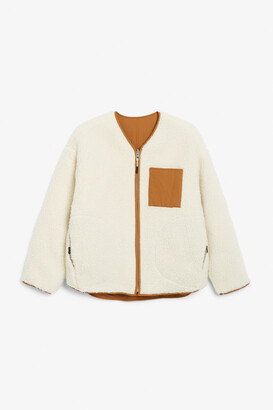 Monki Reversible fleece jacket