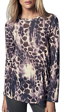 b new york Pleat Front Long Sleeve Top