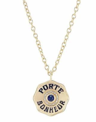 Marlo Laz Mini Porte Bonheur Blue Sapphire Necklace