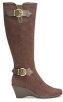 Aerosoles Women's Wonderful Extended Calf Wedge Boot