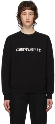 Carhartt Work In Progress Black Logo Sweatshirt