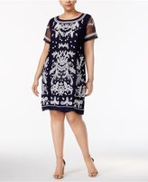 INC International Concepts Plus Size Embroidered Sheath Dress, Only at Macy's