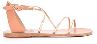 Ancient Greek Sandals Meloivia Platinum Leather Sandal
