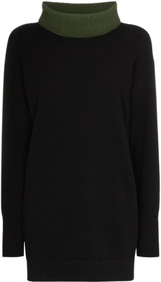 Marni contrast-neck long-line jumper