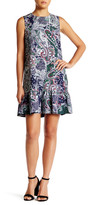 Cynthia Rowley Printed Ruffle Hem Dress