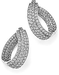 Bloomingdale's Diamond Multi Row Inside Out Oval Hoop Earrings in 14K White Gold, 4.70 ct. t.w. - 100% Exclusive