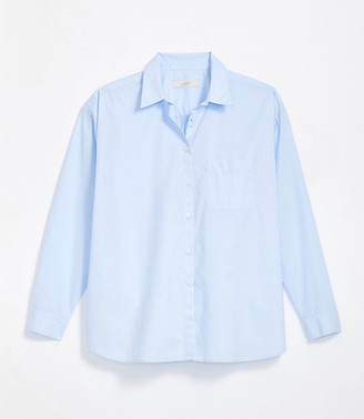 LOFT Petite Pocket Button Down Shirt