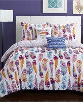 Idea Nuova Watercolor Olivia Feather 4-Pc. Twin/Twin XL Comforter Set