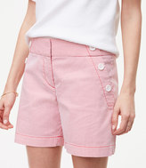 LOFT Seersucker Sailor Riviera Shorts with 6 Inch Inseam