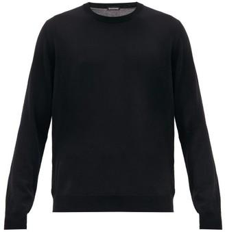 Balenciaga Bb-intarsia Virgin Wool-blend Sweater - Mens - Black Green