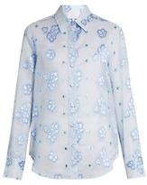 Luisa Beccaria Floral fil coupé organza shirt
