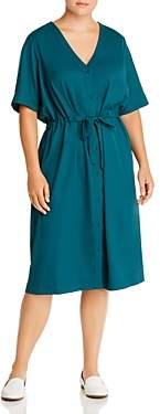 Junarose Plus Perez Drawstring-Waist Midi Shirt Dress