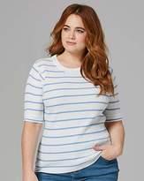 Fashion World Blue Stripe Rib Top