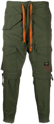 Greg Lauren X Paul & Shark Multi-Pocket Cargo Trousers