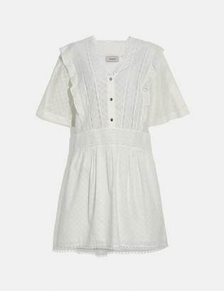 Coach Broderie Anglaise Mini Dress