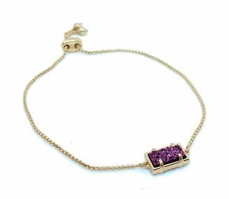 Kendra Scott Phillipa Bracelet Deep Fuchsia Drusy/Rose Gold Tone One Size