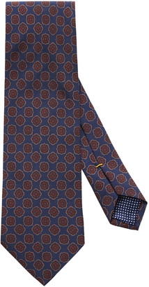 Eton Men's Neat Medallion Tie