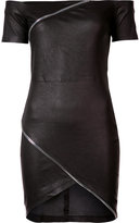 RtA zip detail mini dress - women - Lamb Skin - 4