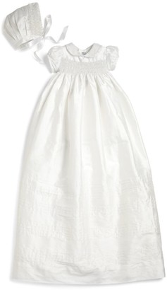 Isabel Garreton Baby's 2-Piece Silk Pearls Christening Gown & Bonnet Set